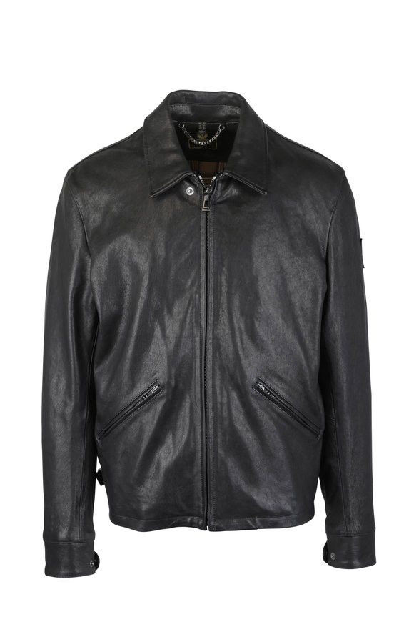 Belstaff Cooper Black Leather Jacket