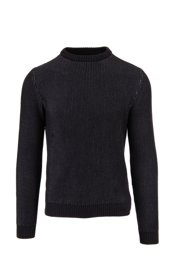 Incotex Gray Active Knit Crewneck Pullover