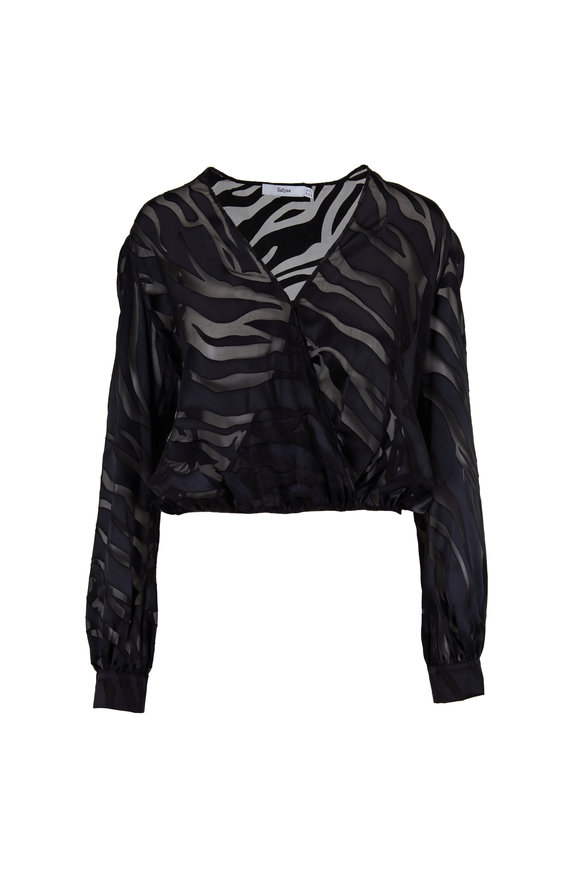 Safiyaa Aitana Black Tiger Burnout Bodysuit