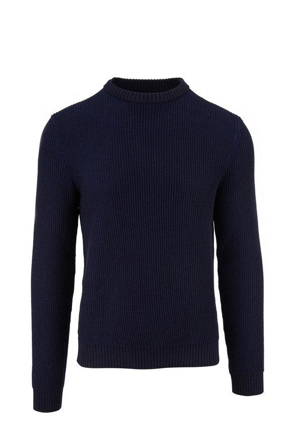 Incotex Navy Blue Melange ActiveKnit Sweater