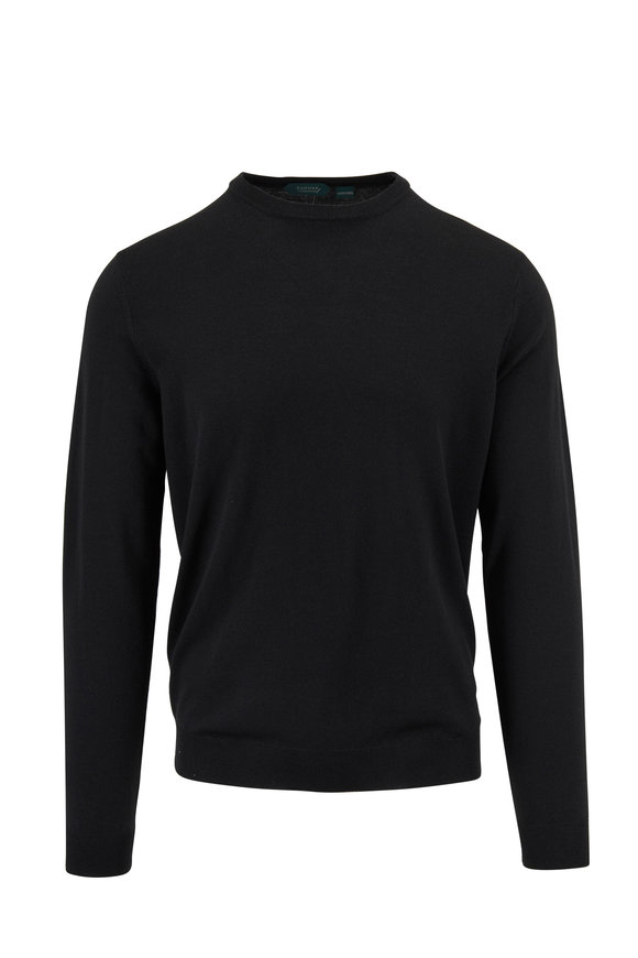 Incotex Dark Green Flexwool Crewneck Sweater