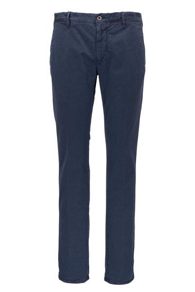Incotex - Blue Tonal Micro Print Slim Fit Pant