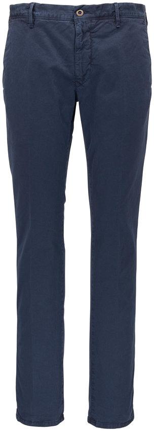 Incotex Blue Tonal Micro Print Slim Fit Pant