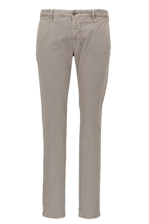 Incotex Light Gray Micro Print Slim Fit Pant