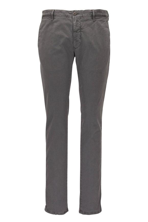 Incotex Gray Tonal Micro Print Slim Fit Pant