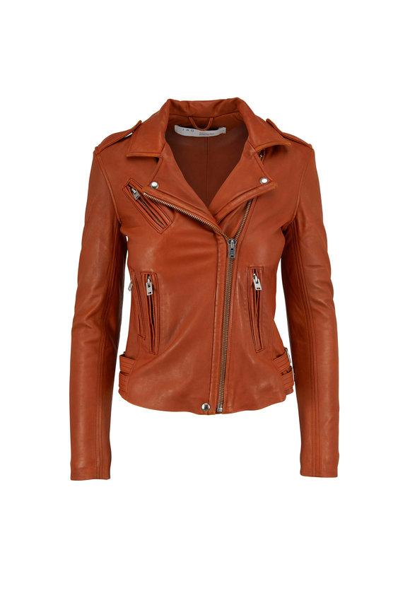 IRO Han Camel Leather Jacket