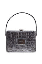Tom Ford - Antique Silver Embossed Leather Box Bag