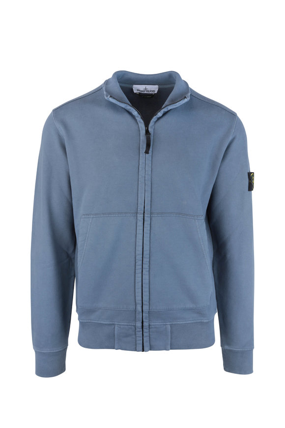 Stone Island Blue Zip Sweater