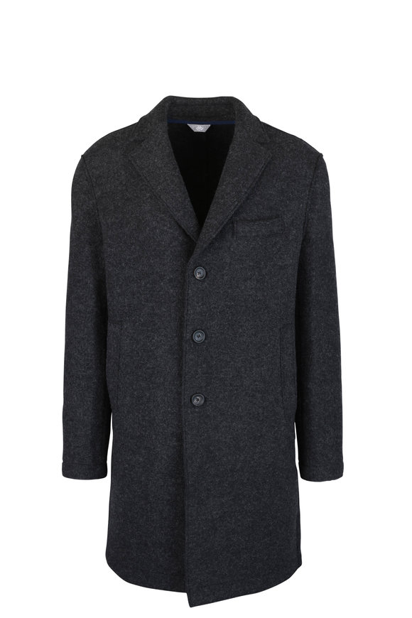 Fradi Nick Gray Wool Front Button Jacket