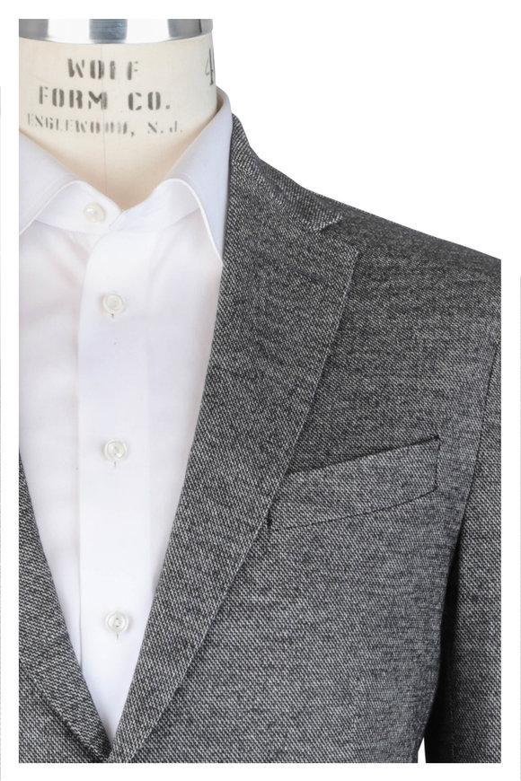 Fradi Clive Gray Melange Wool Blend Sportcoat