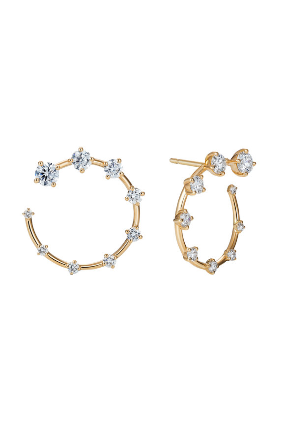 Fernando Jorge 18K Yellow Gold Small Circle Diamond Earrings