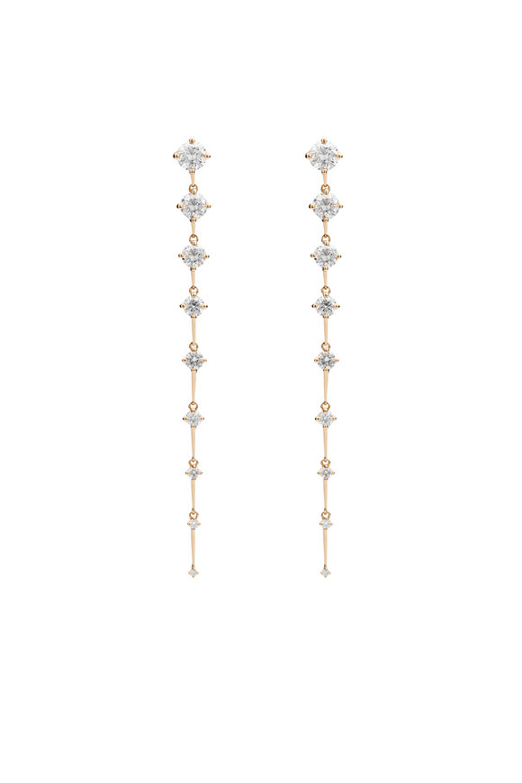 Fernando Jorge 18K Yellow Gold Long Sequence Diamond Earrings