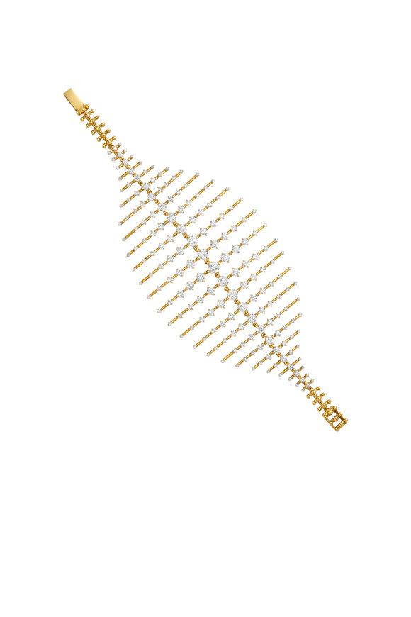 Fernando Jorge 18K Yellow Gold Diamond Disco Bracelet