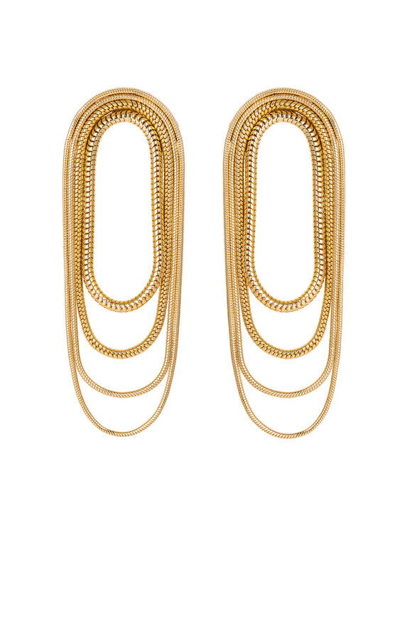 Fernando Jorge 18K Yellow Gold Multi Chain Earrings