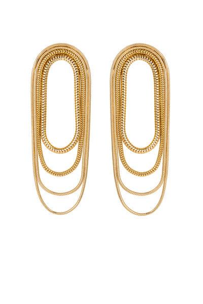 Fernando Jorge - 18K Yellow Gold Multi Chain Earrings