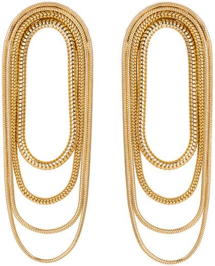 Fernando Jorge 18K Yellow Gold Multi Chain Earrings