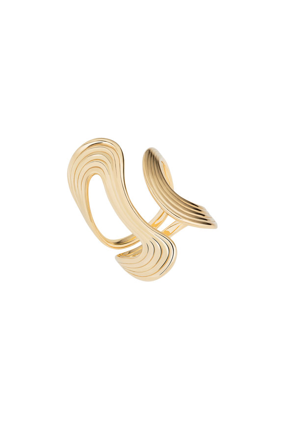 Fernando Jorge 18K Yellow Gold Stream Line Open Ring