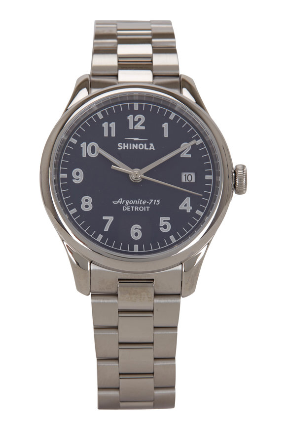 Shinola The Vinton Midnight Stainless Steel Watch, 38mm