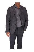 Maurizio Baldassari - Charcoal & Brown Plaid Wool Sportcoat