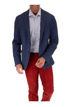 Maurizio Baldassari - Navy Cotton & Wool Textured Sportcoat
