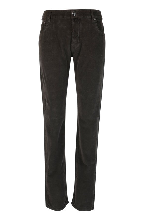 Jacob Cohen  Dark Brown Corduroy Jean