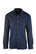 Isaia - Blue Plaid Wool & Cashmere Overshirt