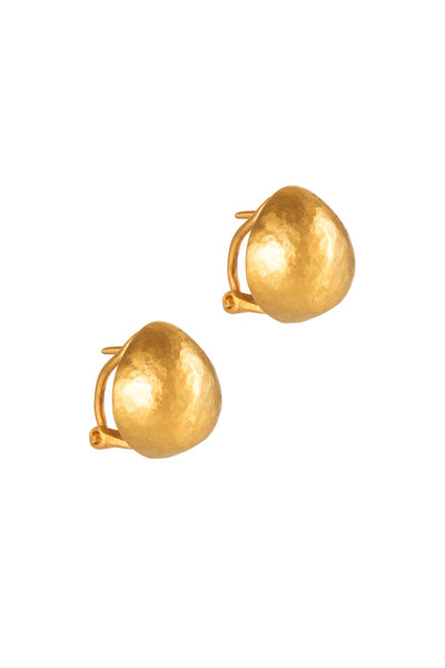 Yossi Harari - 24K Yellow Gold Stud Roxanne Earrings