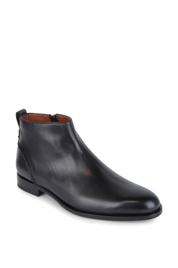 Ermenegildo Zegna Parma Black leather Zip Boot
