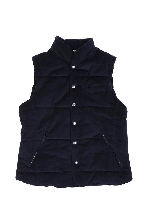 Fradi Gore Navy Blue Corduroy Vest