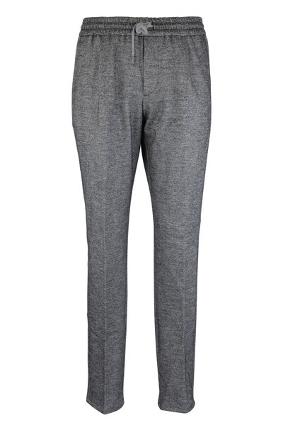 Fradi - Coulisse Gray Wool Blend Jogger Pant