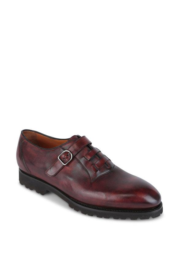 Bontoni Amatore Chocolate Burnished Leather Monk Shoe