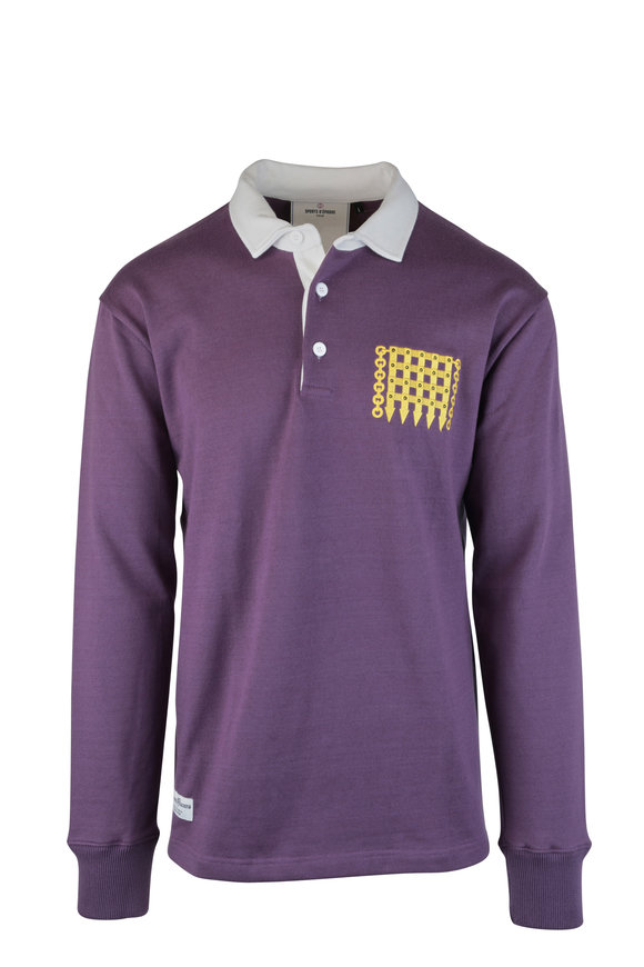 Rowing Blazers Purple Rugby Logo Polo