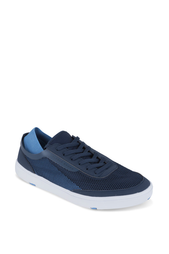 Orlebar Brown Larson Navy Blue Mesh Sneaker