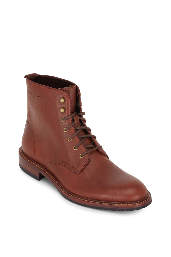 Trask Lance Saddle Tan Leather Lace-Up Boot