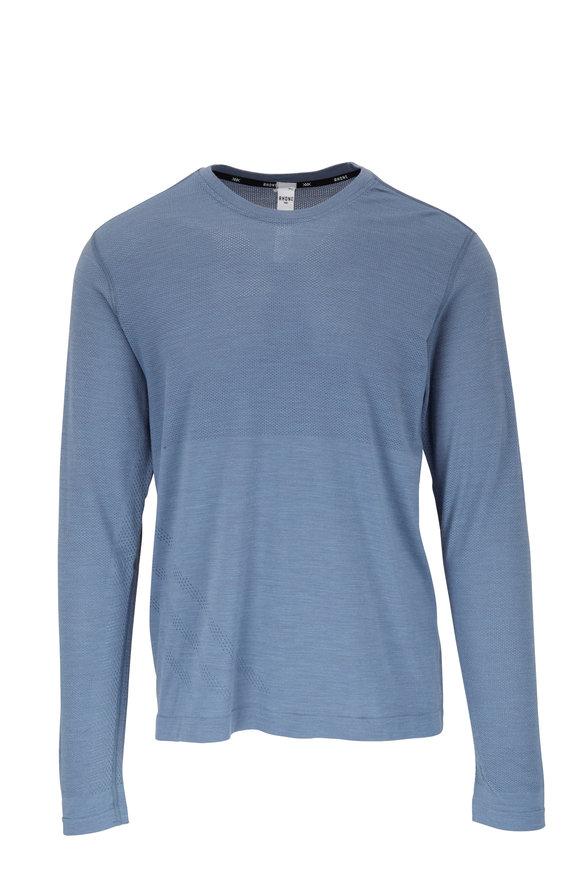 Rhone Apparel Taupo Flint Stone Tech Wool Long Sleeve T-Shirt