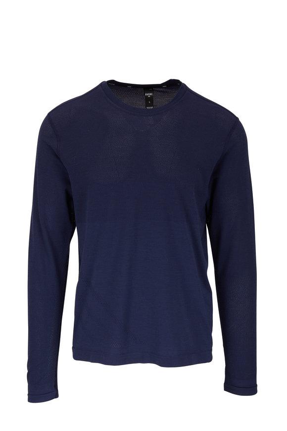 Rhone Apparel Taupo Navy Tech Wool Long Sleeve T-Shirt