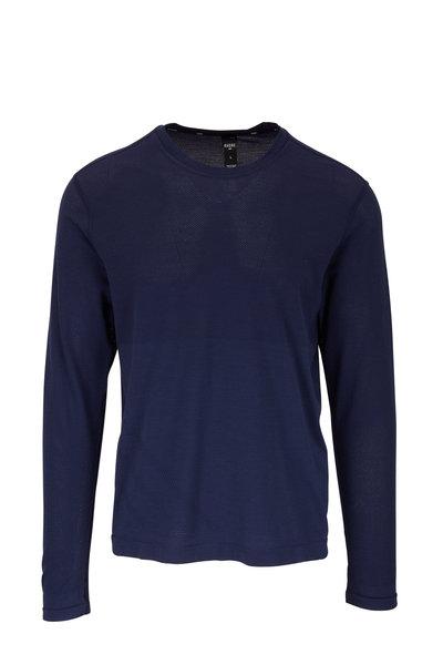 Rhone Apparel - Taupo Navy Tech Wool Long Sleeve T-Shirt