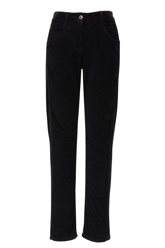 Brunello Cucinelli Exclusively Ours! Black Corduroy Pant