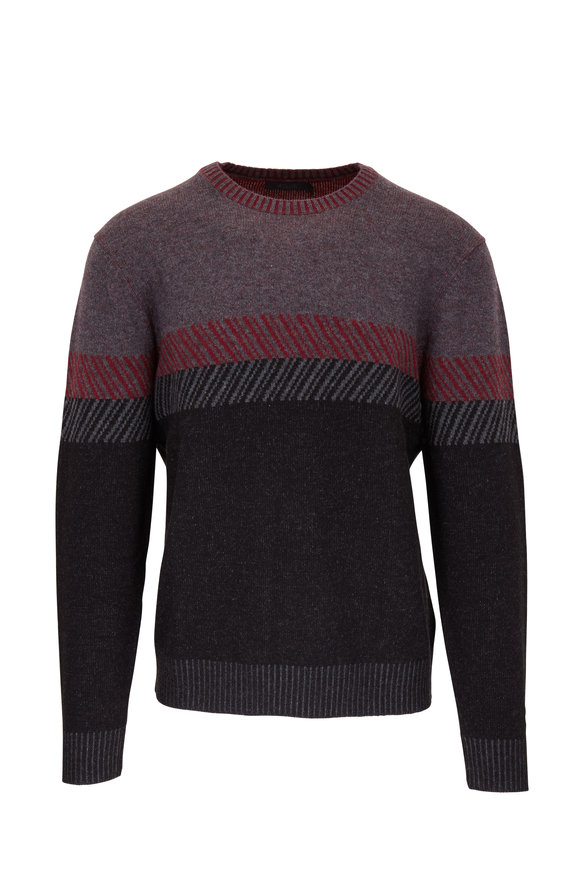 Raffi  Iron Colorblock Crewneck Sweater