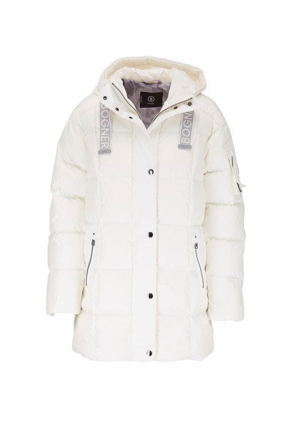 Bogner Fanja Off-White Down Hooded Coat