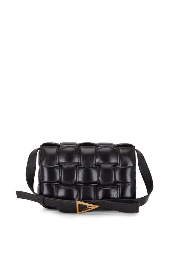 Bottega Veneta Cassette Black Padded Leather Shoulder Bag