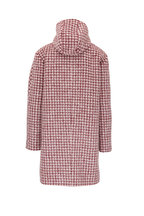Chloé - Red & White Houndstooth Alpaca & Wool Coat