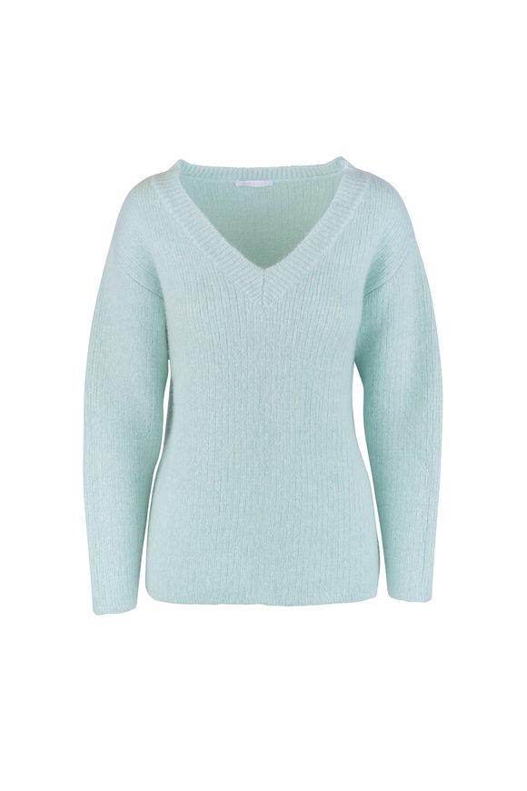 John Elliott Celadon Wool & Cashmere V-Neck Sweater