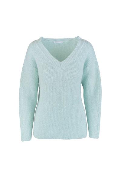 John Elliott - Celadon Wool & Cashmere V-Neck Sweater