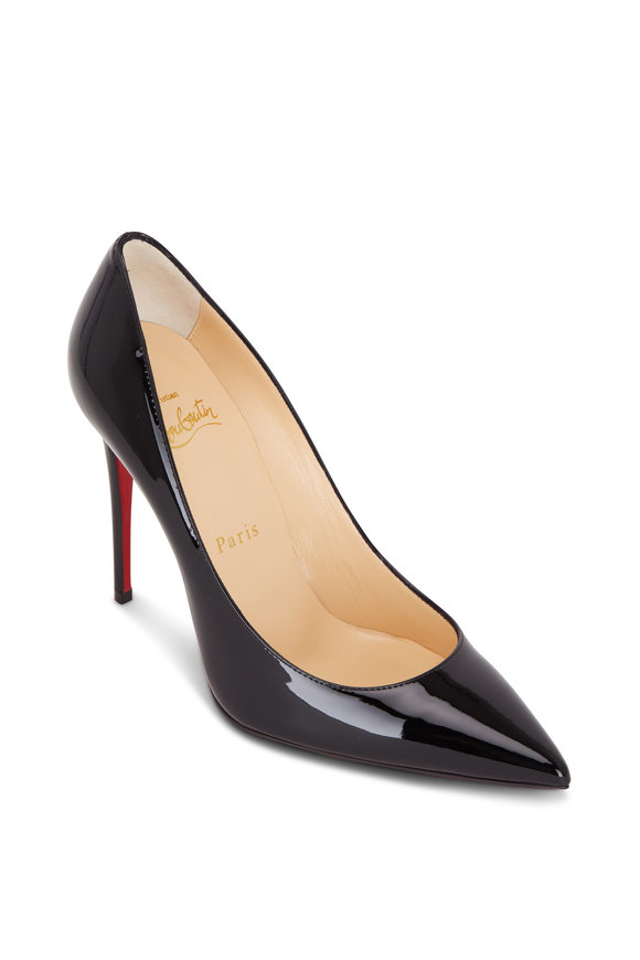 Kate Black Patent Leather Pump, 100mm