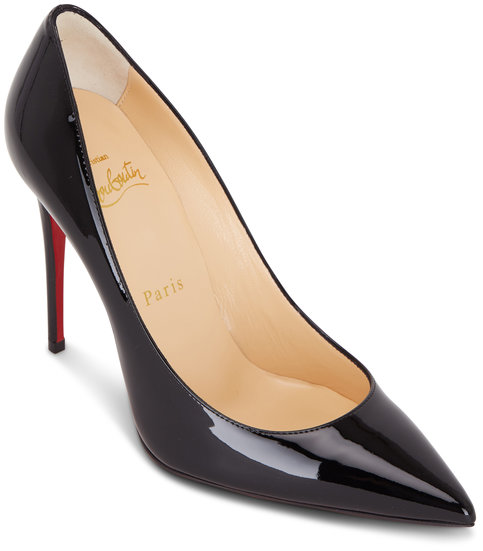 Christian Louboutin Kate Black Patent Leather Pump, 100mm