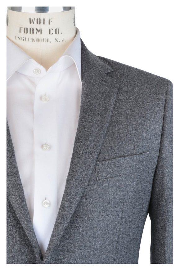 Atelier Munro Solid Gray Wool Suit