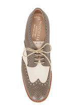 Gravati - Mud & Cream Leather Lace-Up Wingtip