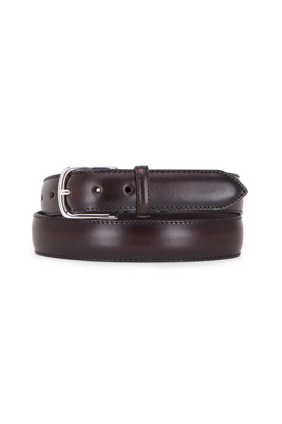 Paolo Vitale Dark Brown Leather Belt