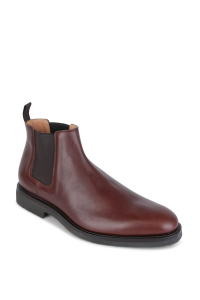 Heschung - Fusain Cognac Leather Chelsea Boot